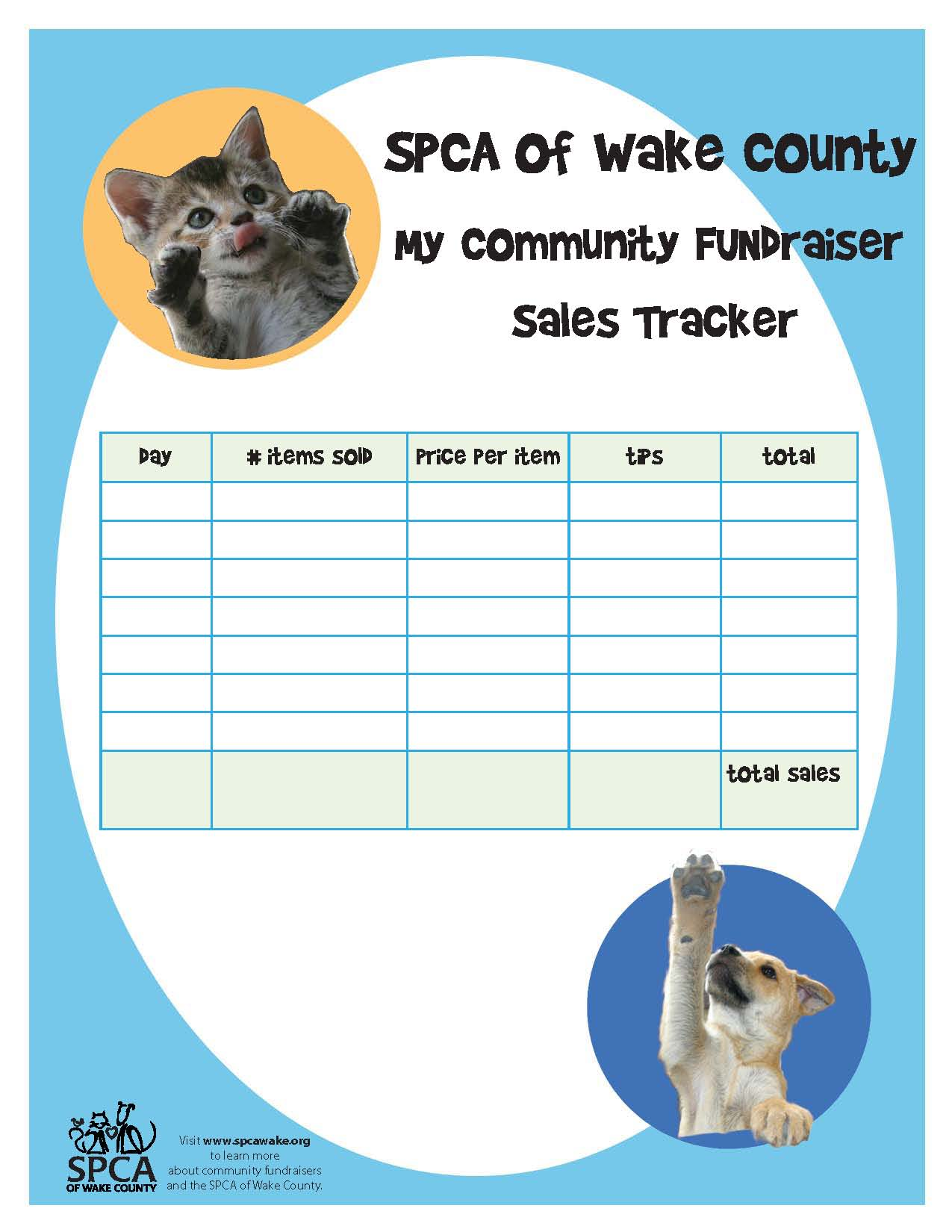 FUNdraising Guide Tool Kit - SPCA of Wake County